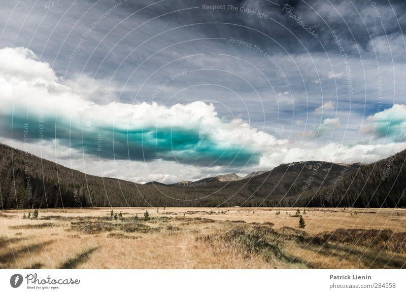 Rocky Mountain High Himmel Natur Ferien & Urlaub & Reisen Einsamkeit Wolken Landschaft Erholung Wald Ferne Umwelt Berge u. Gebirge Freiheit Luft Wetter Klima