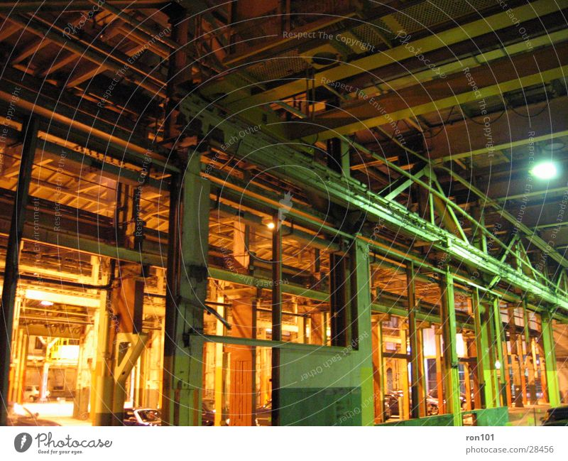 halle Architektur Stahl Parkhaus Baugerüst Fabrikhalle Stahlverarbeitung