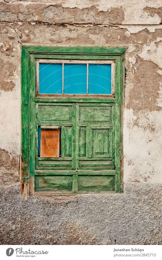 Fassade in La Orotava, Teneriffa Haus Gebäude Erholung Spanien Reisefotografie veraltet Farbfoto Außenaufnahme Menschenleer Textfreiraum oben Tag