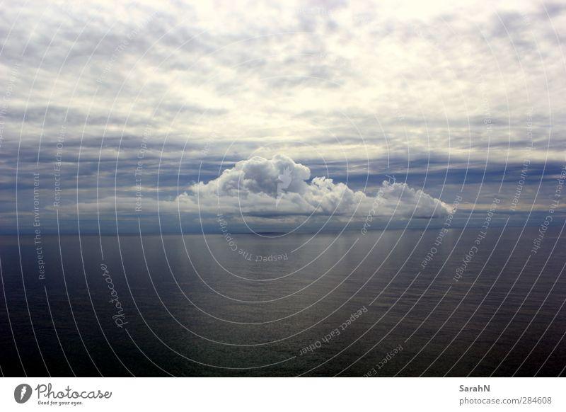 Die Wolke Natur Landschaft Luft Wasser Wassertropfen Himmel Wolken Horizont Sommer Klima Wetter schlechtes Wetter Wind Gewitter Wellen Küste Meer