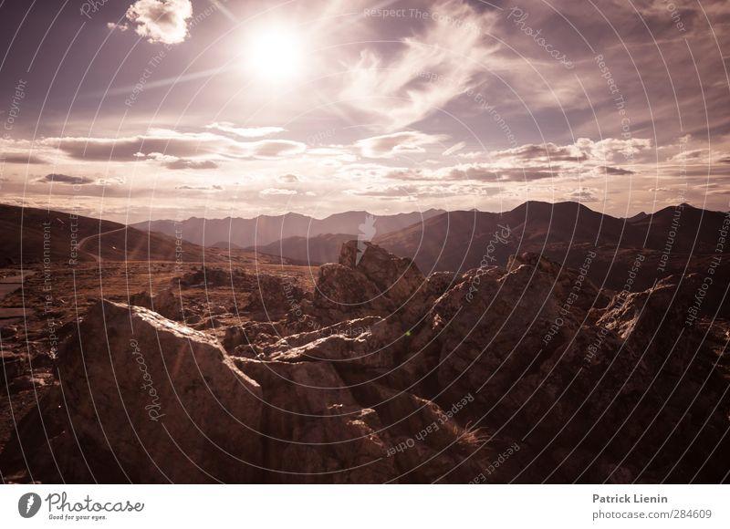 Hard Sun Umwelt Natur Landschaft Urelemente Erde Luft Himmel Wolken Sonne Sonnenaufgang Sonnenuntergang Sonnenlicht Klima Wetter Schönes Wetter Wind Felsen