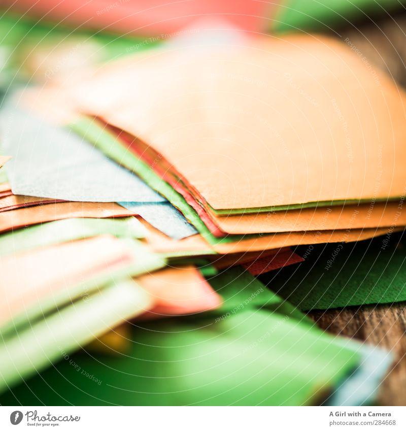 schnippselich Papier Quadrat Zettel Basteln Fetzen Bastelmaterial