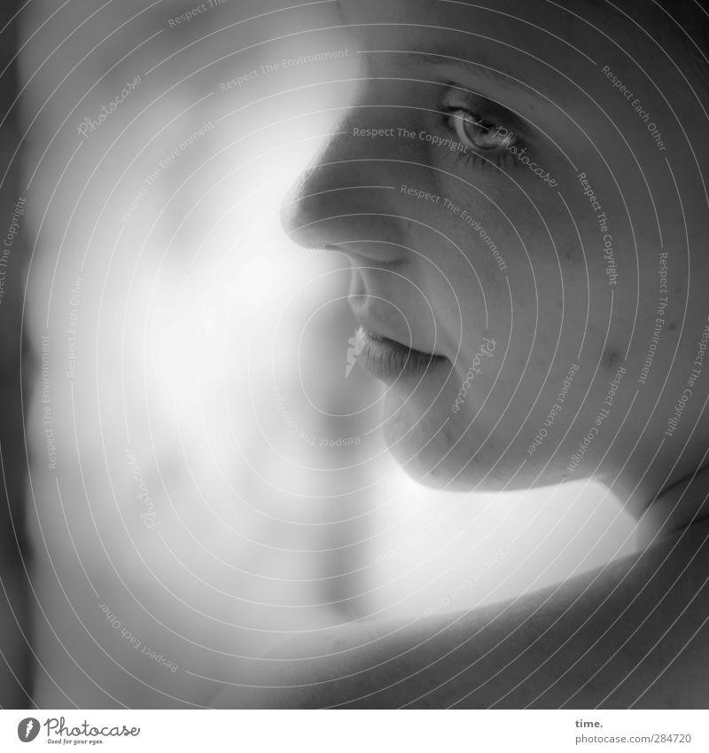 andlostluggage feminin Frau Erwachsene Gesicht Auge Nase Mund Lippen 1 Mensch 18-30 Jahre Jugendliche Gefühle Vertrauen Sicherheit Schutz Geborgenheit