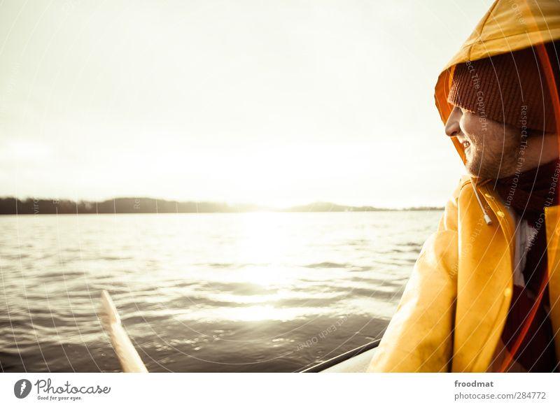 fishermans friend Freizeit & Hobby Angeln Ferien & Urlaub & Reisen Ausflug Abenteuer Ferne Winter Mensch maskulin Junger Mann Jugendliche 1 Natur Wasser Sonne