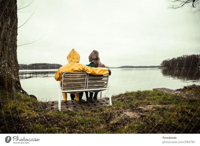 paartherapie Mensch Natur Ferien & Urlaub & Reisen Winter Erwachsene Umwelt Liebe Herbst feminin Leben Paar Zusammensein sitzen maskulin warten Tourismus