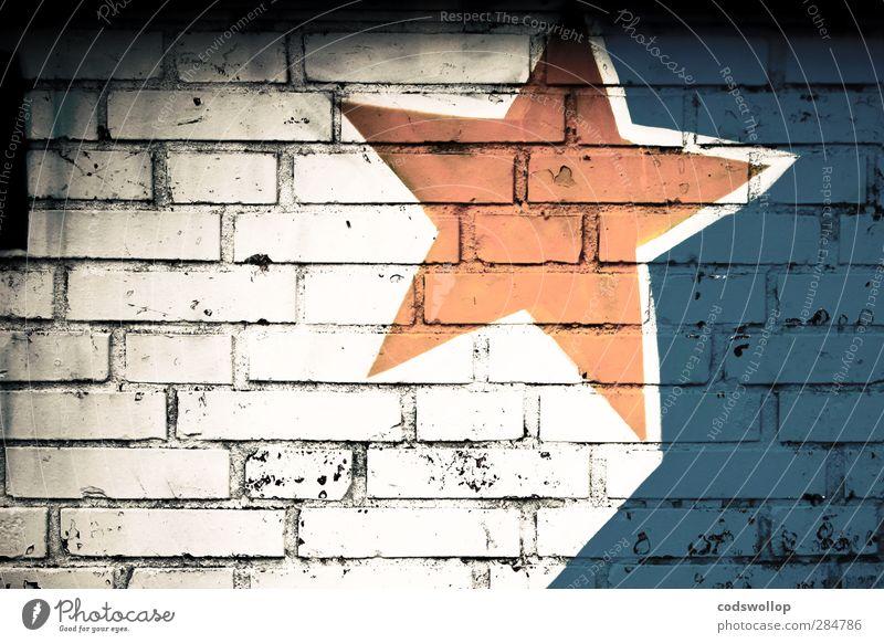 R136a1 blau weiß gelb Graffiti Wand Mauer Fassade Stern (Symbol) Zeichen graphisch
