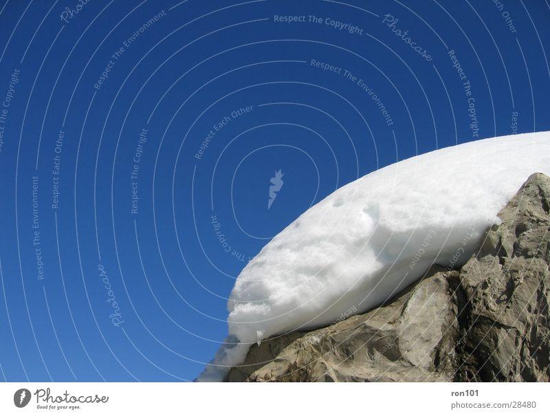 snowcap Himmel weiß blau Schnee grau Stein Felsen