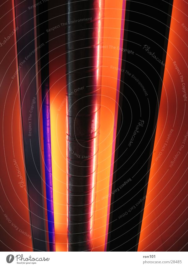 röhren Neonlicht rot Elektrisches Gerät Technik & Technologie luftkanäle Beleuchtung violet orange