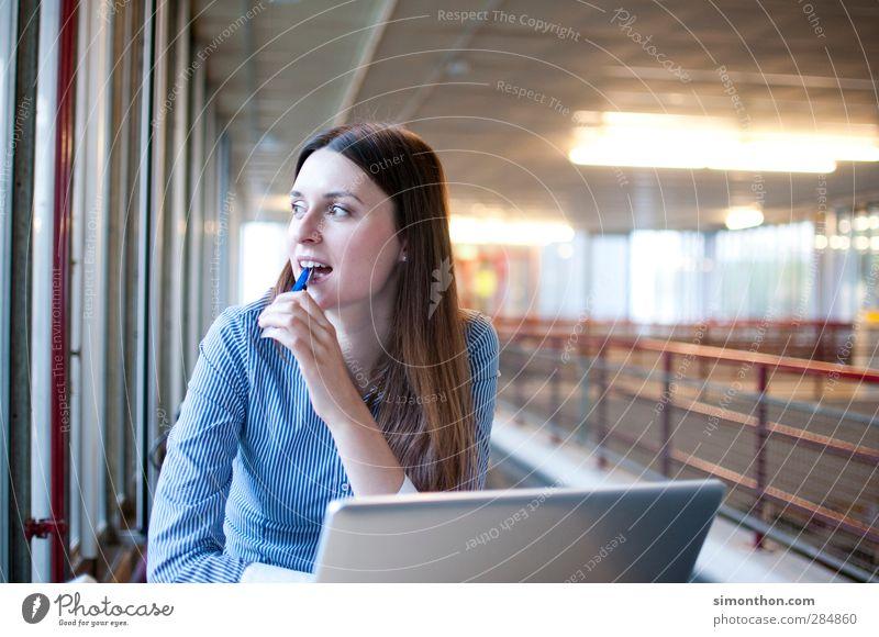 Arbeit Mensch Jugendliche Erwachsene Denken 18-30 Jahre Business Arbeit & Erwerbstätigkeit Computer Erfolg Zukunft lernen Studium Ziel Bildung Student