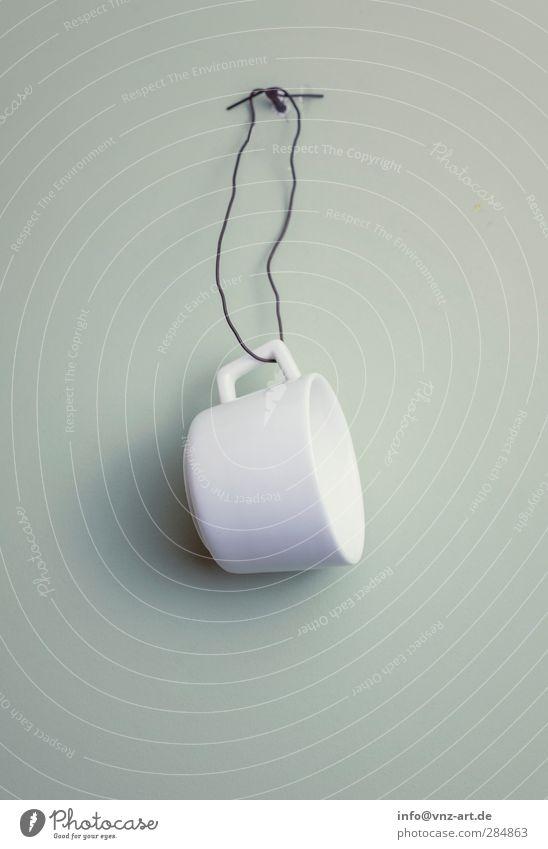 Cupwall weiß Wand Metall Geschirr Tasse Schweben hängen Becher Nagel Kaffeetrinken