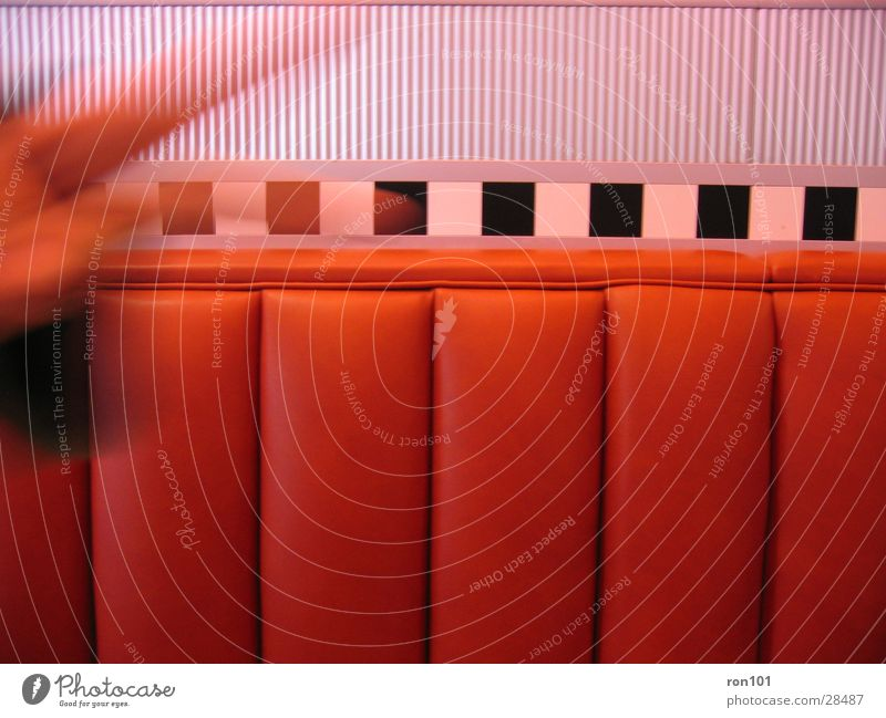 rotsitz Hand weiß schwarz Bank Freizeit & Hobby Sofa silber Sitzgelegenheit
