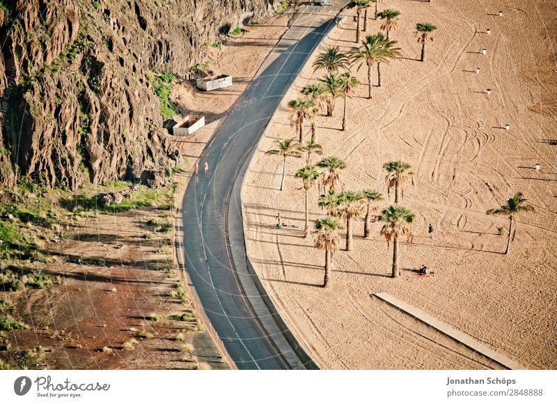 Strand in San Andrés, Santa Cruz de Tenerife, Teneriffa Kurve Verkehr Palme Natur Landschaft San Andres Santa Cruz de Teneriffa Kanaren Reisefotografie