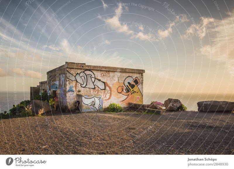 verlassenes Haus auf Teneriffa Natur Lebensfreude Wahrheit Hoffnung leuchten Meer Süden außergewöhnlich Wunder Farbfoto Außenaufnahme Menschenleer Küste