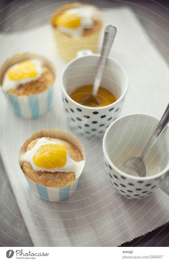 Spiegeleier-Cupcakes gelb Ernährung lecker Tasse Backwaren Teigwaren Dessert Sahne Muffin Fingerfood Spiegelei Cupcake