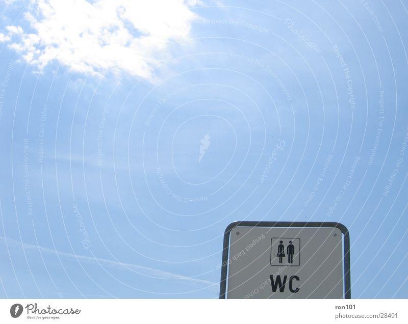 Ladies / Gents Himmel weiß Sonne blau Wolken Schilder & Markierungen Freizeit & Hobby Toilette Dame