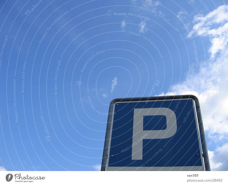 Parking Space ???? Himmel blau Wolken Schilder & Markierungen Freizeit & Hobby Parkplatz