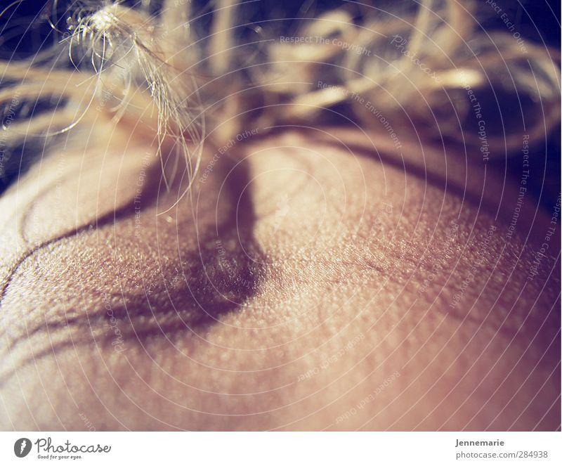 deeper skin feminin Junge Frau Jugendliche Haare & Frisuren Rücken 1 Mensch 18-30 Jahre Erwachsene blond langhaarig frieren Erotik gruselig kalt Gedeckte Farben