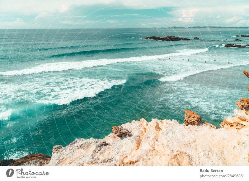 Wunderschöne Meereslandschaft, Klippen und Ozean an der Algarve, Portugal Lifestyle exotisch Ferien & Urlaub & Reisen Tourismus Abenteuer Ferne Freiheit Sommer