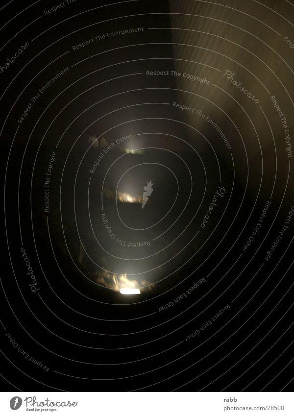 nachtlichter Nacht Nebel Lichtkegel gebäudefluter Scheinwerfer Treppe