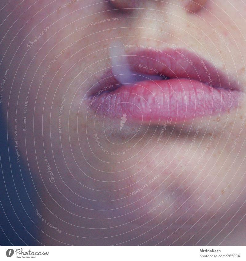 sorrow. Mensch Jugendliche schön ruhig Erwachsene Junge Frau feminin Erotik Junger Mann 18-30 Jahre maskulin Zufriedenheit Mund Warmherzigkeit Rauchen Lippen