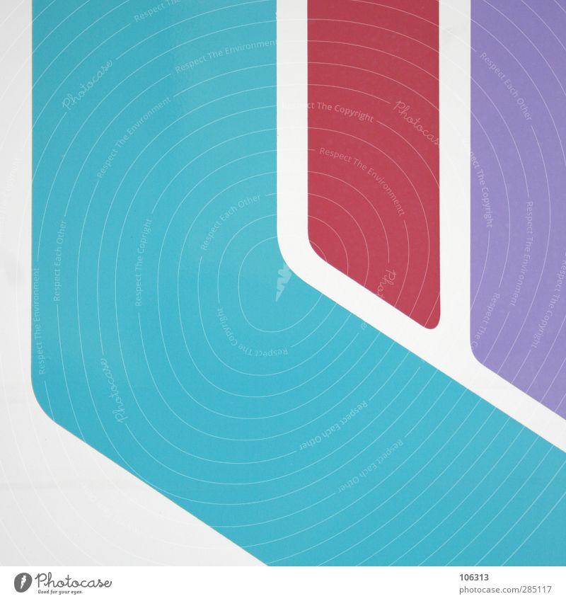 Karte & Gebiet weiß rot Straße Wege & Pfade Linie Design Zeichen Grafik u. Illustration violett türkis Richtung Dynamik Bildausschnitt Landkarte graphisch