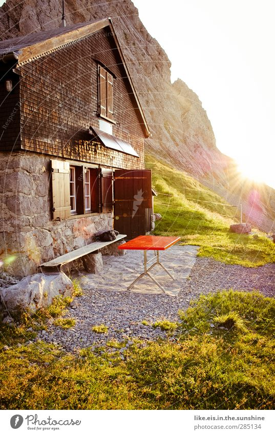 verdammt guter Morgen! Natur Ferien & Urlaub & Reisen Sommer Einsamkeit ruhig Landschaft Umwelt Berge u. Gebirge Herbst Gras Freiheit Felsen Klima