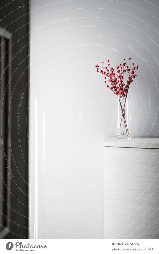 Künstliche Äste Dekoration Innenarchitektur Ast Dekoration & Verzierung künstlich Beeren heimwärts weiß Stil Glas Vase Design Wand schön Leben Raum Haus Möbel