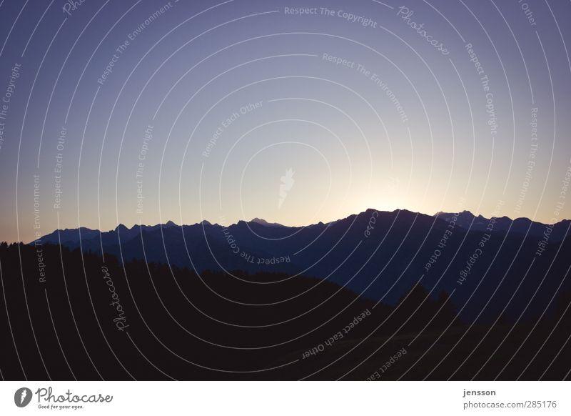 Texelgruppe Himmel Natur Ferien & Urlaub & Reisen Landschaft Ferne Reisefotografie Berge u. Gebirge Umwelt Freiheit Horizont Tourismus leuchten Aussicht Italien