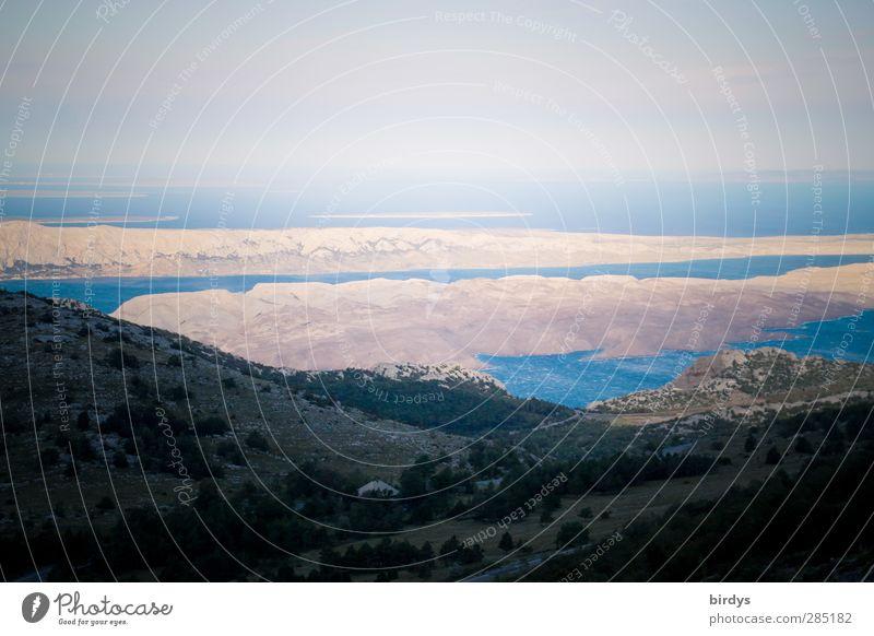 Die kroatischen Inseln Ferien & Urlaub & Reisen Ferne Sommerurlaub Landschaft Horizont Berge u. Gebirge Küste Meer Adria leuchten ästhetisch außergewöhnlich