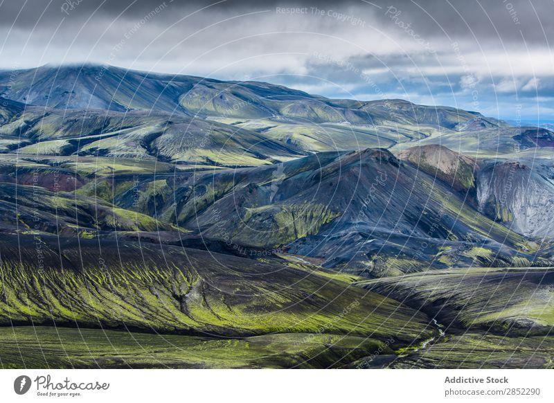 Naturschutzgebiet Landmannalaugar, Island Geologie abgelegen Wasser Mývatn Fluggerät Aussicht abstrakt Feld Konsistenz Berge u. Gebirge Reichweite extrem