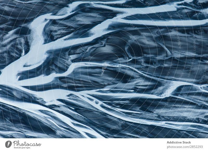 Luftaufnahmen vom Jokulsa River, Myvatn Umgebung, Island Wokulsa Geologie abgelegen Wasser Mývatn Fluggerät Aussicht abstrakt Feld Konsistenz Fotografie