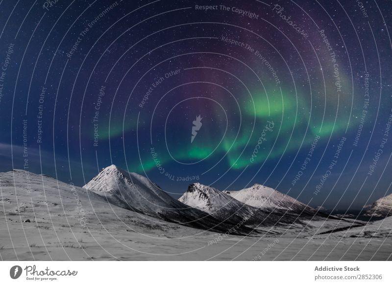 Kvaloya Island, Norwegen Landschaft Schnee Winter Norweger Berge u. Gebirge Fjord Arktis Meer Eis kalt Natur Norden Wasser Himmel Skandinavien