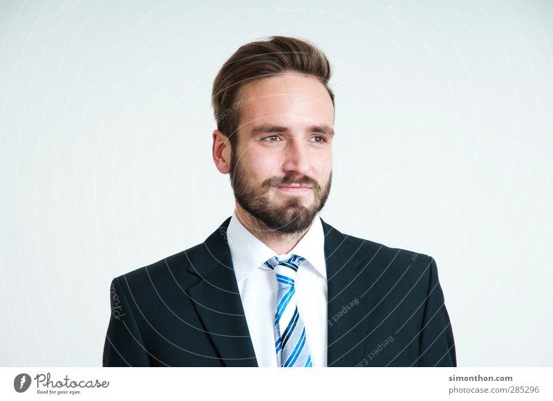 visionär Mensch Jugendliche Business maskulin Erfolg Zukunft Studium planen Bart stark Hemd Sitzung Anzug Berufsausbildung Karriere Unternehmen