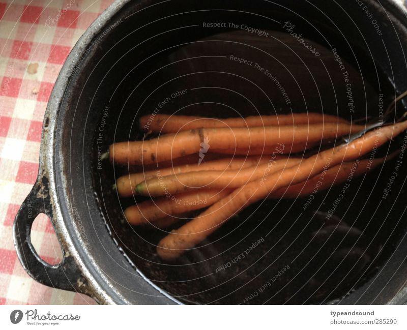Klassisches Wurzelgemüse Natur ruhig Essen natürlich Gesunde Ernährung orange Lebensmittel authentisch Idylle einfach retro Sauberkeit Kochen & Garen & Backen