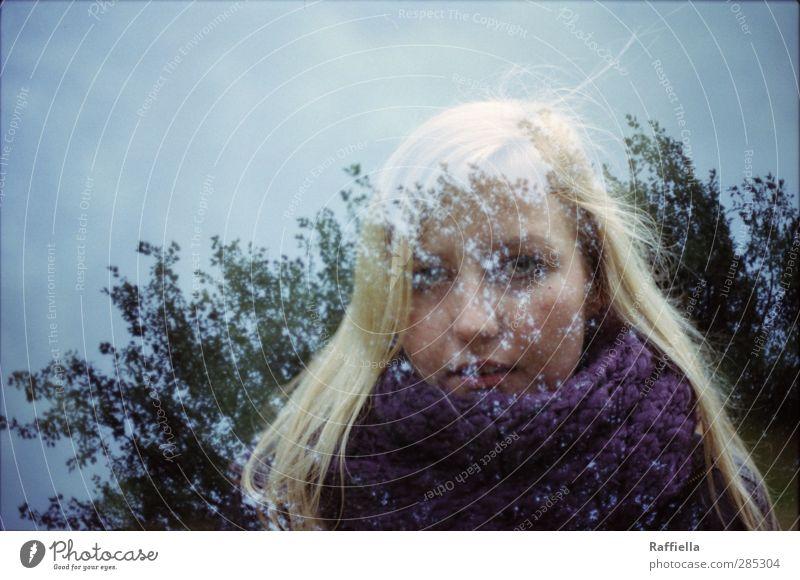 in my mind feminin Junge Frau Jugendliche Kopf Haare & Frisuren Gesicht Auge Nase Mund 1 Mensch 18-30 Jahre Erwachsene Umwelt Natur Landschaft Himmel