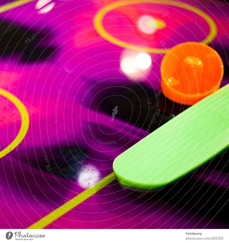 shufflepuck Freude Sport Spielen Glück Stil Hintergrundbild rosa Freizeit & Hobby Design Lifestyle violett Bar Jahrmarkt graphisch Neonlicht Halloween