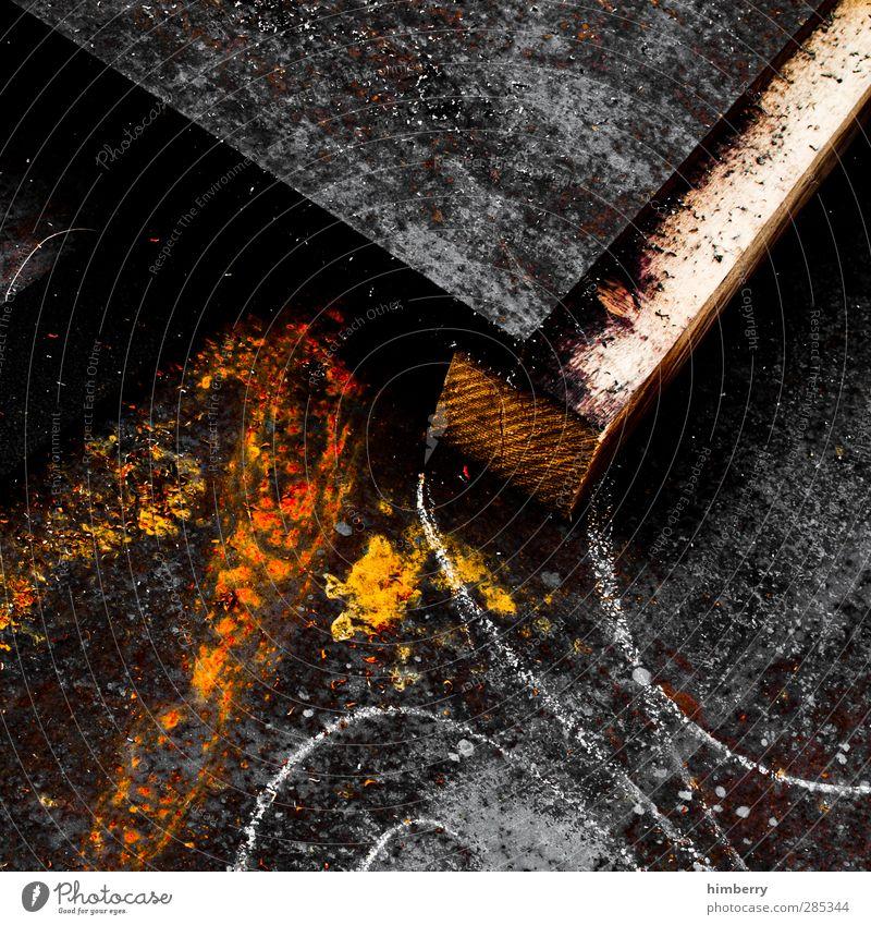 verrückt Industrie Güterverkehr & Logistik Handwerk Baustelle Kunst Kunstwerk Industrieanlage Metall Rost Linie außergewöhnlich dreckig einzigartig trashig