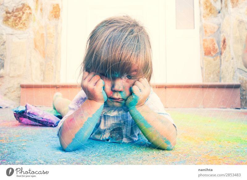 Kind Mensch Farbe Mädchen Lifestyle Leben lustig feminin Gefühle Familie & Verwandtschaft Stil Kunst Spielen Schule Stimmung Freizeit & Hobby