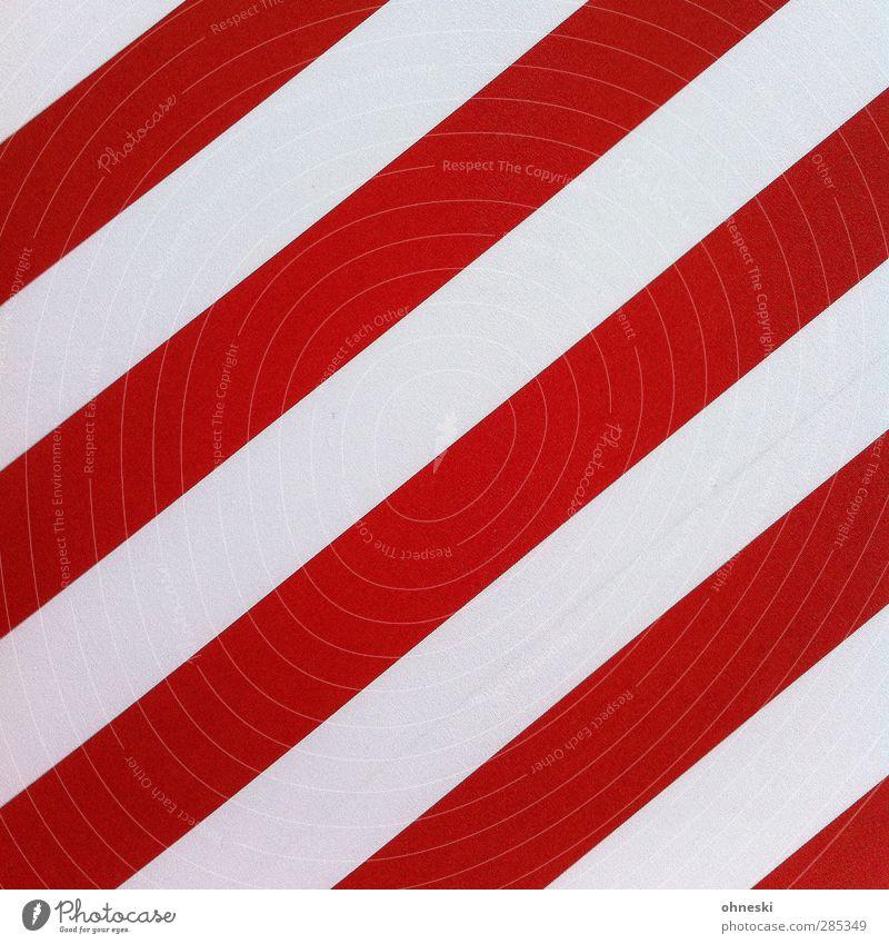 Gestreift weiß rot Wand Mauer Stil Linie Fassade Ordnung Design Streifen Ornament