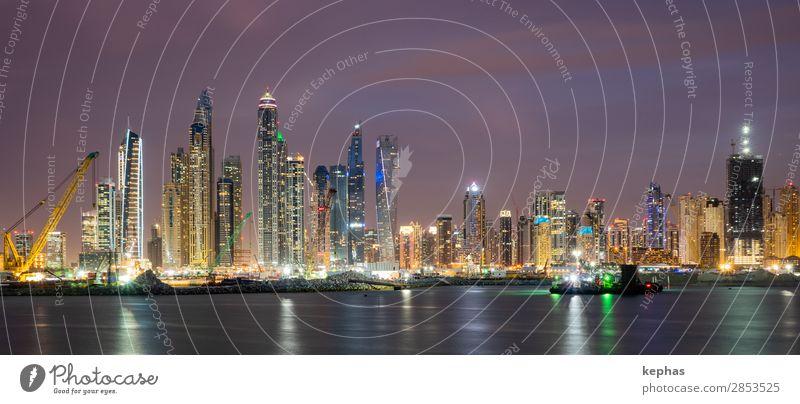 Building Site in front of Dubai Marina Reichtum Ferien & Urlaub & Reisen Tourismus Sightseeing Städtereise Vereinigte Arabische Emirate Stadt Stadtzentrum