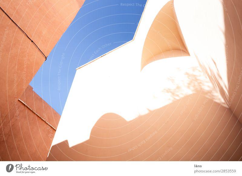 Medina Ferien & Urlaub & Reisen Haus Himmel Marrakesch Afrika Stadt Altstadt Bauwerk Gebäude Mauer Wand einfach Médina Farbfoto Außenaufnahme
