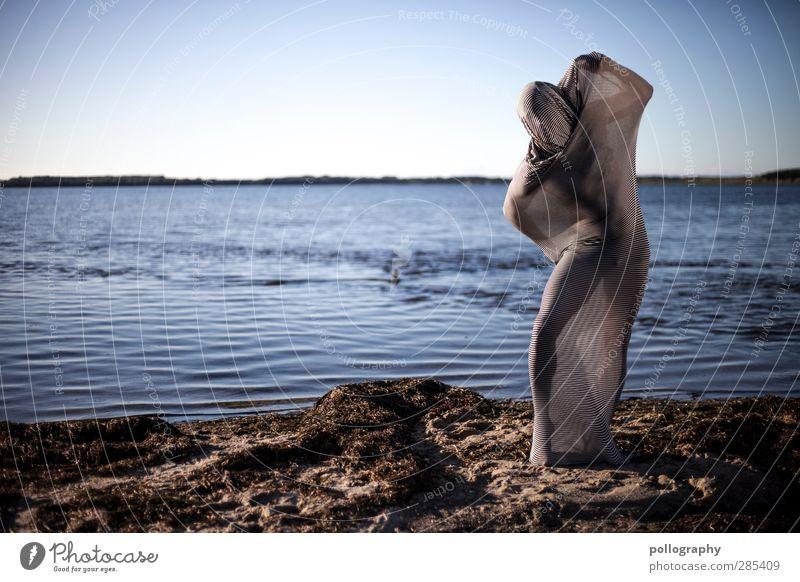 abstract bodies (16) Mensch maskulin Junger Mann Jugendliche Erwachsene Leben Körper 18-30 Jahre Landschaft Wasser Himmel Wolkenloser Himmel Horizont Sommer