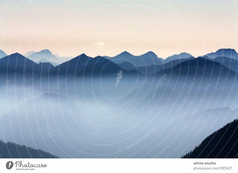 Traumland ... Umwelt Natur Landschaft Himmel Wolkenloser Himmel Horizont Sommer Winter Felsen Alpen Berge u. Gebirge Herzogstand Gipfel Schneebedeckte Gipfel