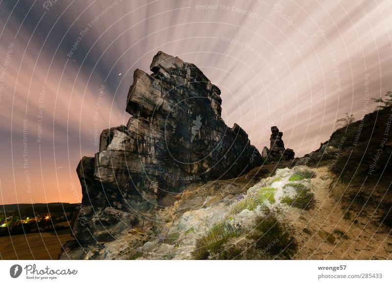 Wolkenfächer Himmel Natur Sommer ruhig Landschaft Berge u. Gebirge Felsen Stern Nachthimmel Sternenhimmel Harz Stativ