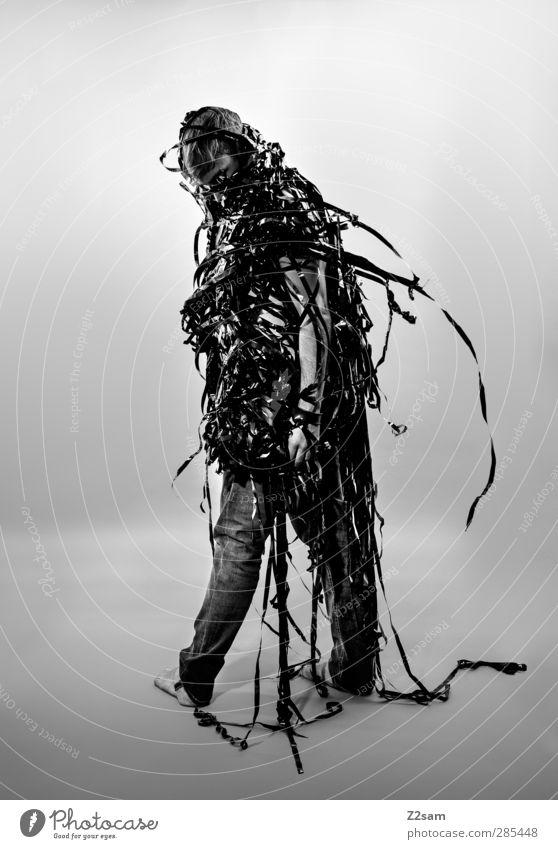 Metamorphose V Mensch Jugendliche Stadt Erwachsene dunkel Junger Mann Stil 18-30 Jahre träumen Kunst maskulin Wachstum elegant modern stehen ästhetisch