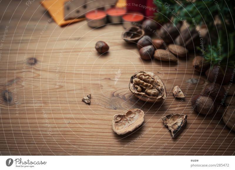 Harte Schale Weihnachten & Advent schön Holz klein Feste & Feiern braun natürlich Lebensmittel authentisch Dekoration & Verzierung Ernährung Dinge Kerze