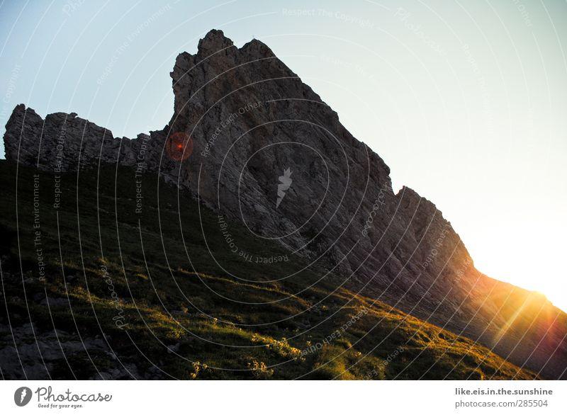 guter morgen auf 2200m Natur Ferien & Urlaub & Reisen Sommer Landschaft Umwelt Wärme Berge u. Gebirge Herbst Gras Horizont Felsen Freizeit & Hobby Tourismus