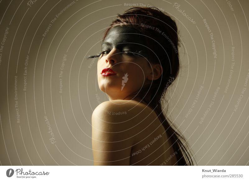 Numina II schön Haut Gesicht Schminke Mensch feminin Junge Frau Jugendliche Erwachsene Kopf 1 18-30 Jahre brünett langhaarig Erotik exotisch Schulter Mund
