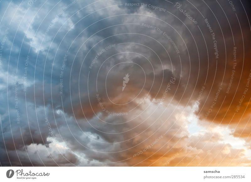 Das Ende des Tages... Himmel Natur Wolken Ferne dunkel oben Luft Wetter bedrohlich Unwetter Sturm Abenddämmerung Gewitter Ärger bedeckt Gewitterwolken