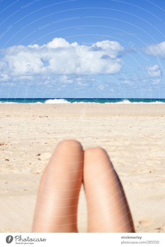 Schöne Aussichten Ferien & Urlaub & Reisen Jugendliche schön Sommer Junge Frau Sonne Erholung Meer Erotik Strand Leben feminin Freiheit Zufriedenheit Tourismus